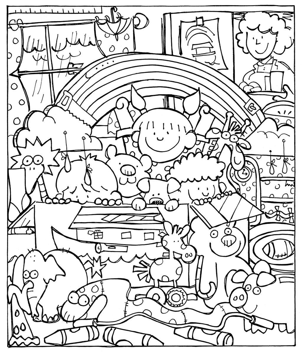 children-playing-noah-ark-755751-print.jpg 1,023×1,200 pixels   maze ...