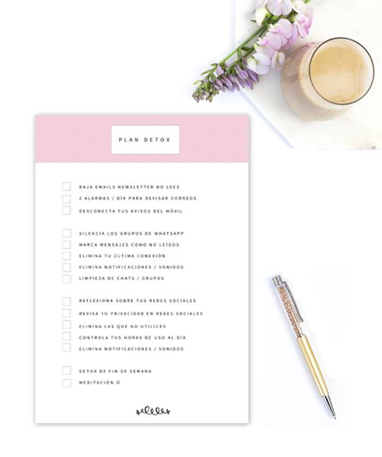 Ideas para llevar una vida más minimalista #detox #digital #imprimible