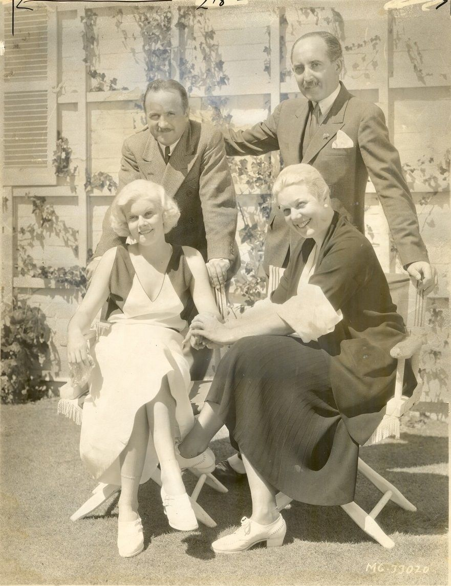 Jean Harlow, husband Harold Rosson. Stepfather Marino Bello and mother Jean