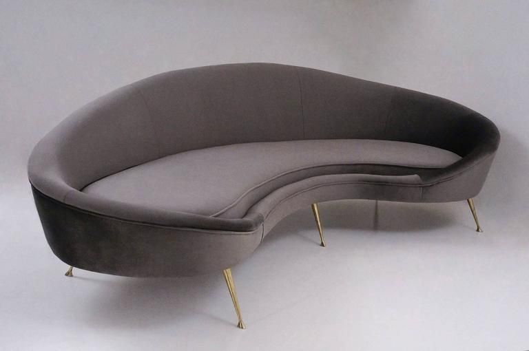 Kidney Shaped Sofa Available In 25 Colors Of Velvet Italian 10
