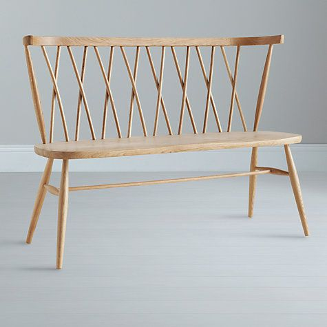 Buy Ercol For John Lewis Chiltern Dining Bench Light Wood From Our Benches Range At
