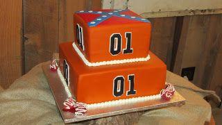 Dukes Of Hazzard Birthday Party Cake DUKES OF HAZZARD GROOMS CAKE OR BIRTHDAY IDEA