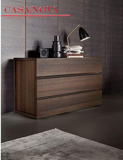 Storage elements available in termotrattato oak veneer or matt and glossy lacquered. The refined opening and closing system of bedside tables, dresser and 6/drawer chests ,is obtained from the oblique cut fronts and highlighted by steel profiles, in bonze finish or matt lacquered depending on the chosen version.   FOR INQUIRY CALL US at 971 434 74577, 971 433 86180, 971 433 47782 http://www.casanovadubai.com/