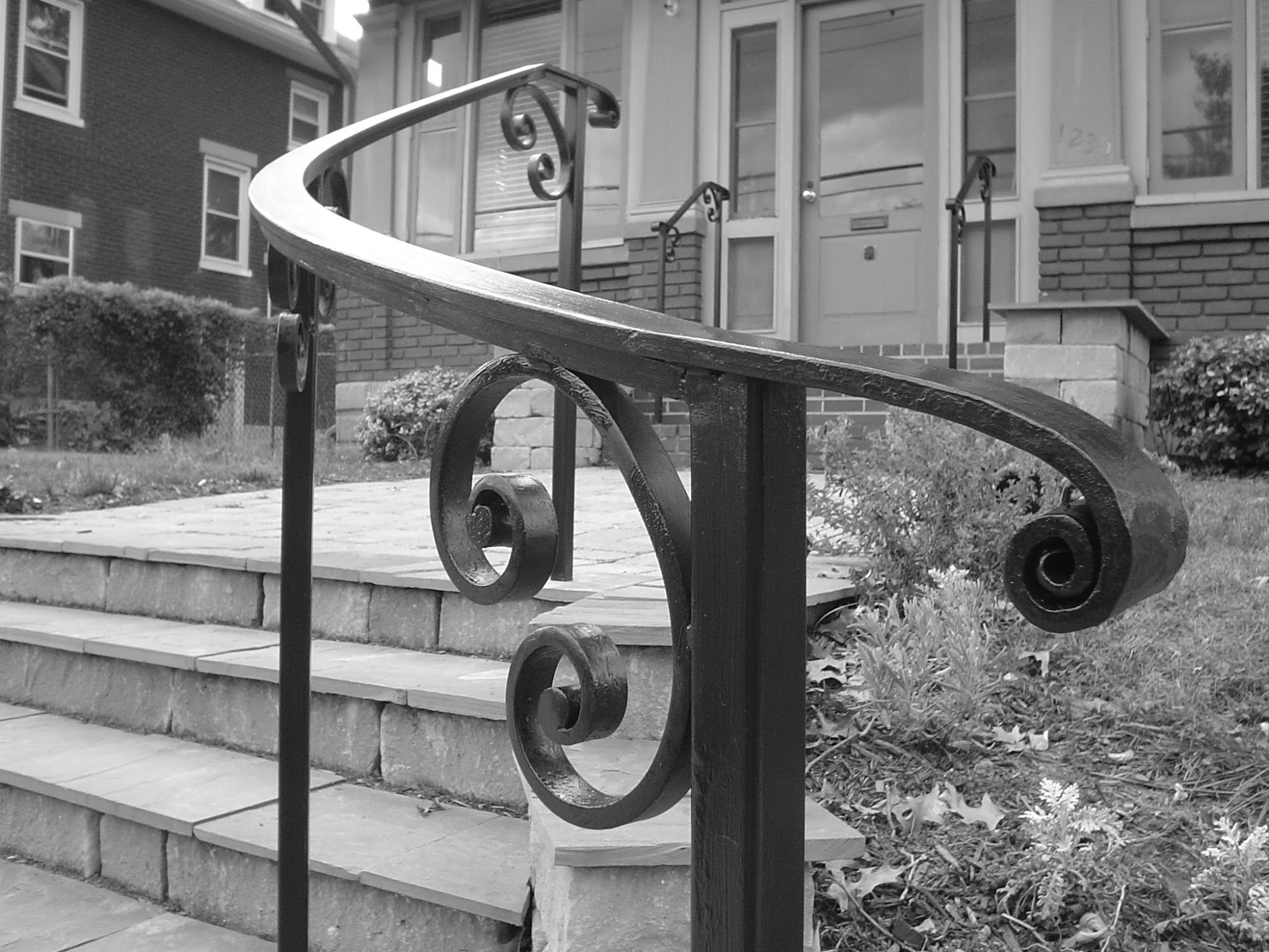Curved Wrought Iron Stair Railings And Exterior Wrought Iron Railings