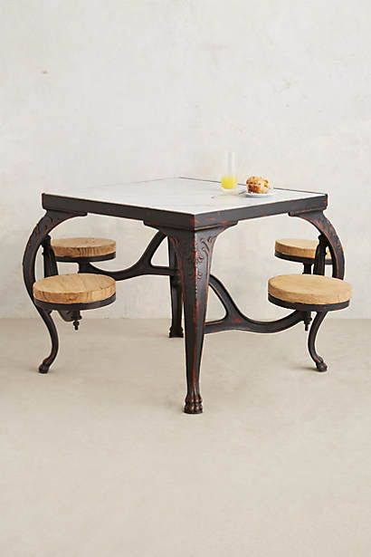 Love This Idea Table With Chairs Attached Furniture Home Furniture Decor