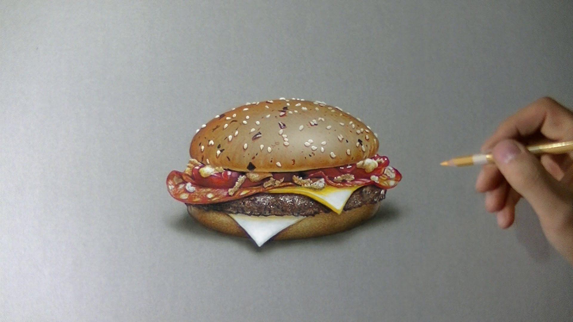 Art drawing time lapse mcdonalds chorizo bbq 4 of 5 burgers marcellobarenghi myburger drawing