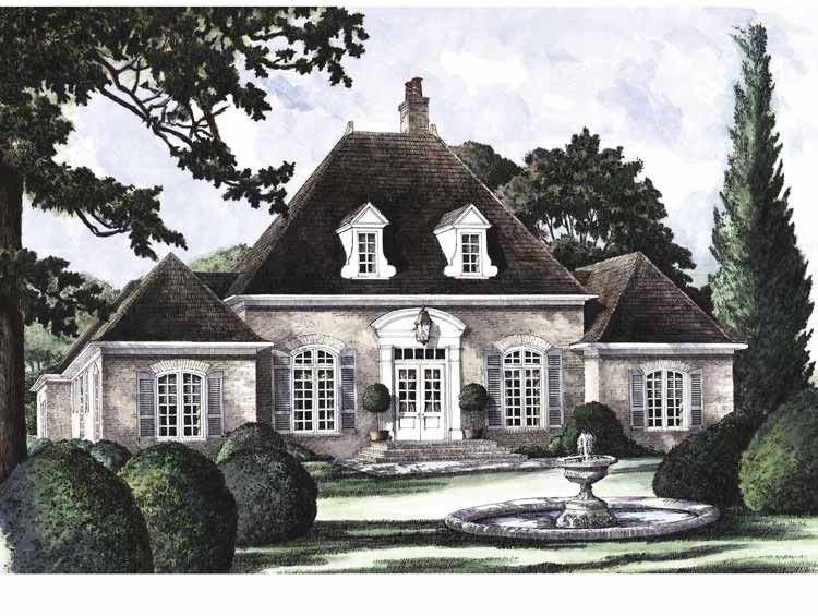 Eplans French Country House Plan Lafayette 2717 Square Feet And