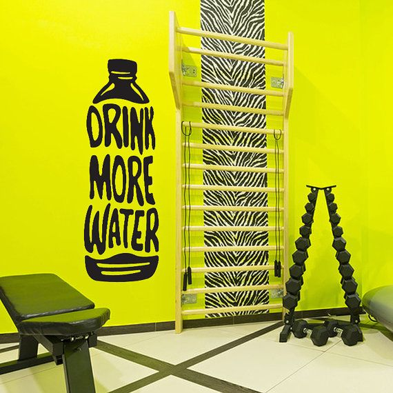 Water Bottle Decal, Drink More Water, Fitness motivation vinyl decal ...