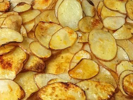 מתכון צ`יפס בתנור, פרוסות תפוחי אדמה דקות אפויות בתנור