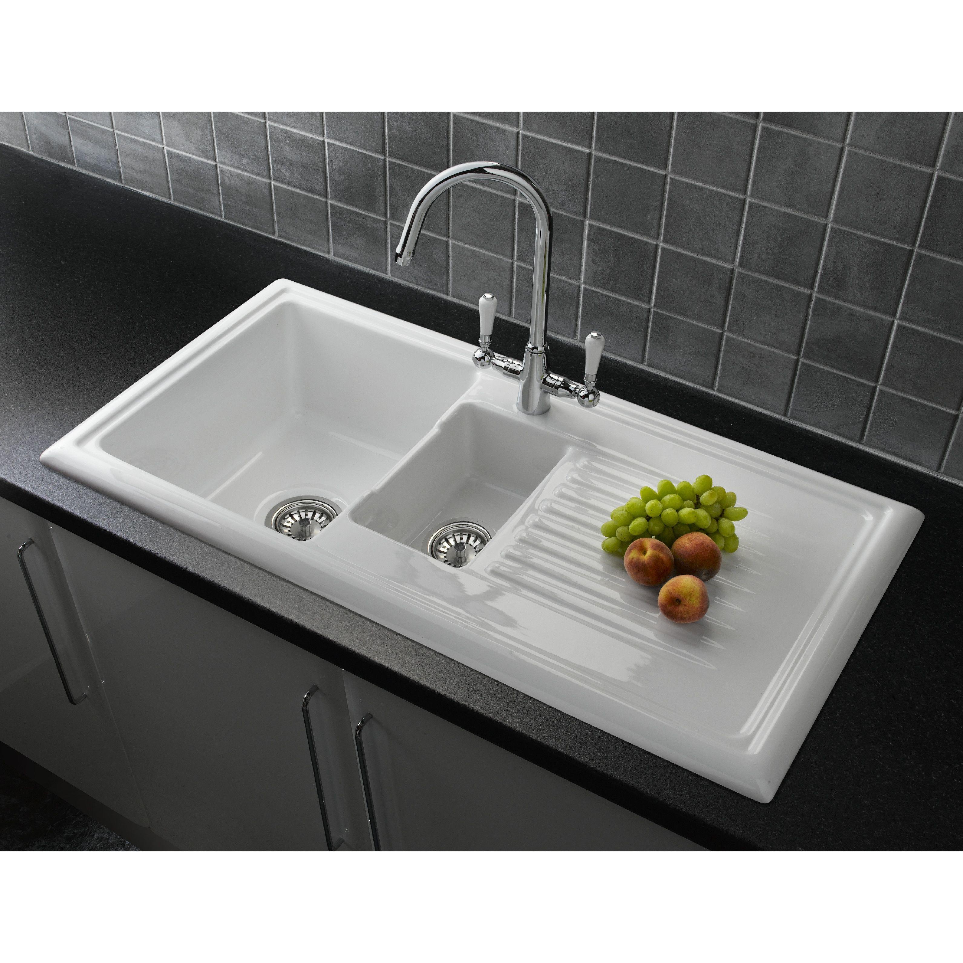 Reginox 101cm x 52.5cm Bowl Inset Kitchen Sink with Waste & Reviews ...