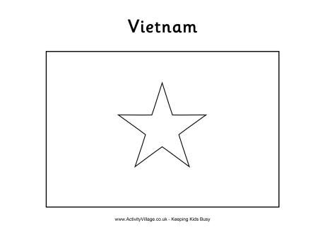 Vietnam Flag Colouring Page Flag Coloring Pages Vietnam Flag