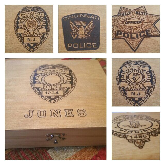 Personalized Law Enforcement Keepsake Box Perfect For