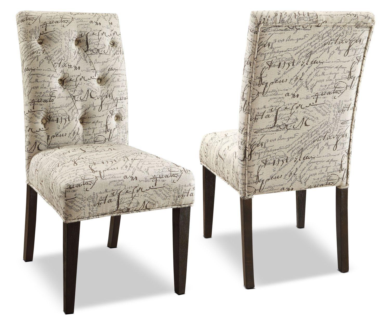 Dining Room Furniture  Brisbane Script Dining Chair  Set