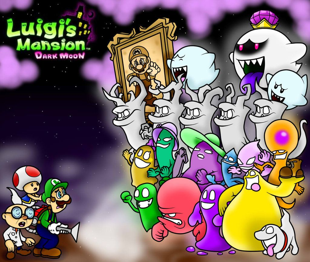 Luigi S Mansion Dark Moon Wallpaper By Superlakitu On Deviantart