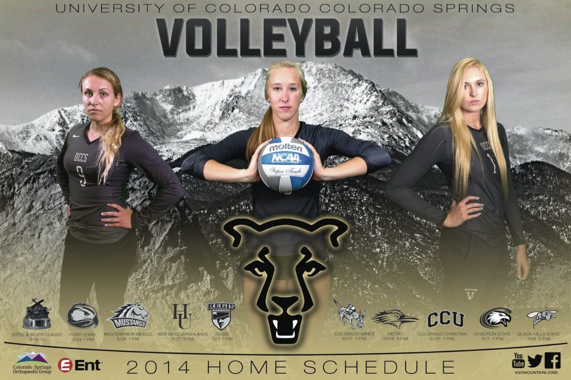 Colorado Colorado Springs Volleyball Poster Volleyball Posters University Of Colorado Colorado Springs
