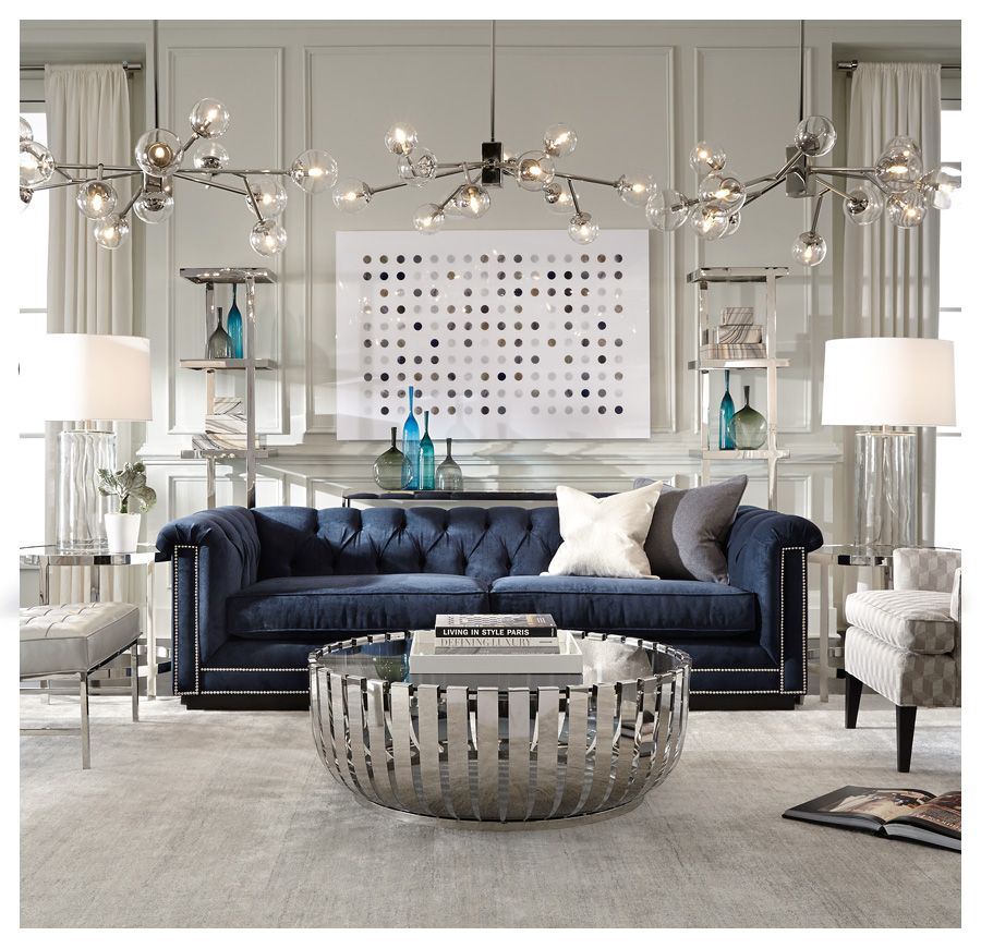 Blue Sofa See Art And Accent Pieces Barrymore Br Available Online In S