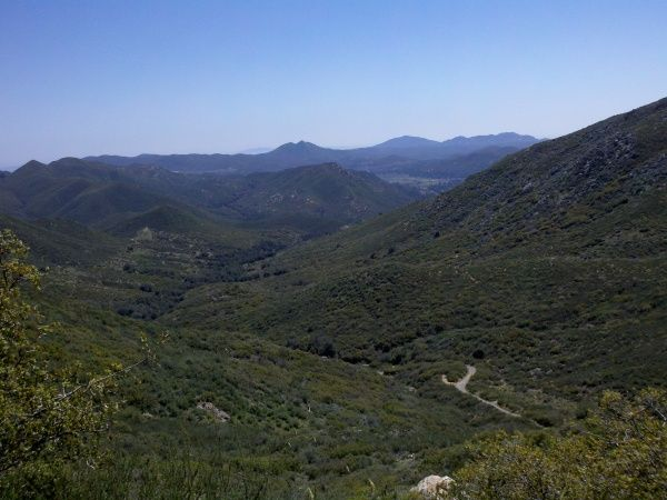Noble Canyon in East San Diego Canyon. From the Mt Laguna ...
