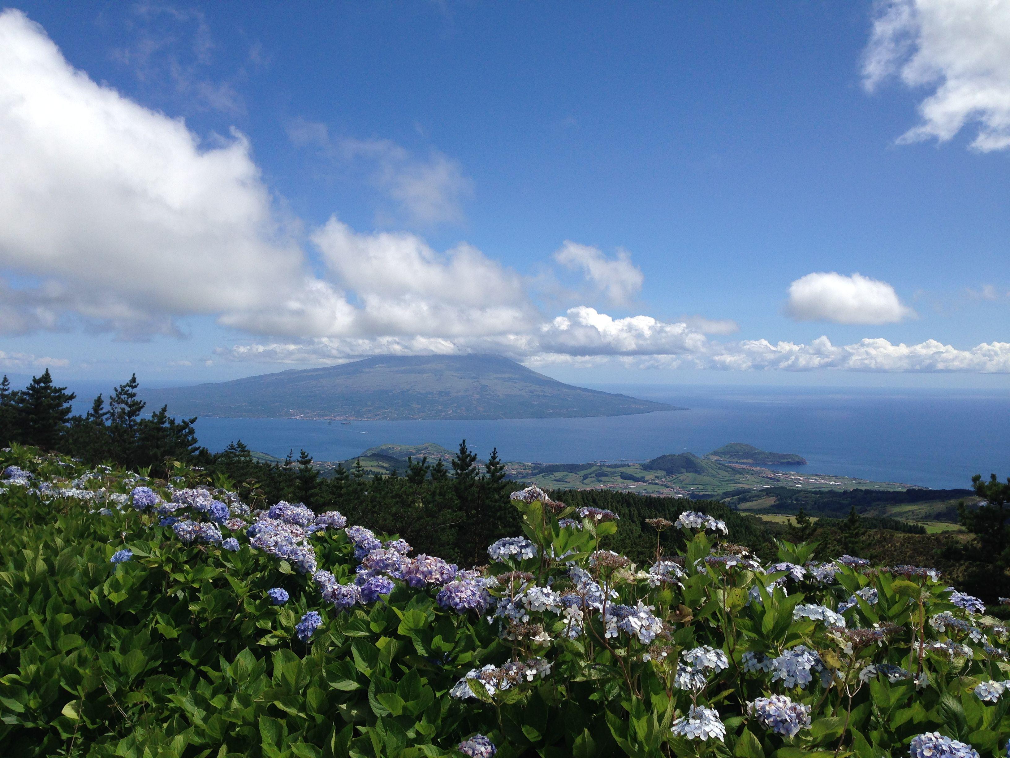 Azoren, Pico - view from Faial, Portugal