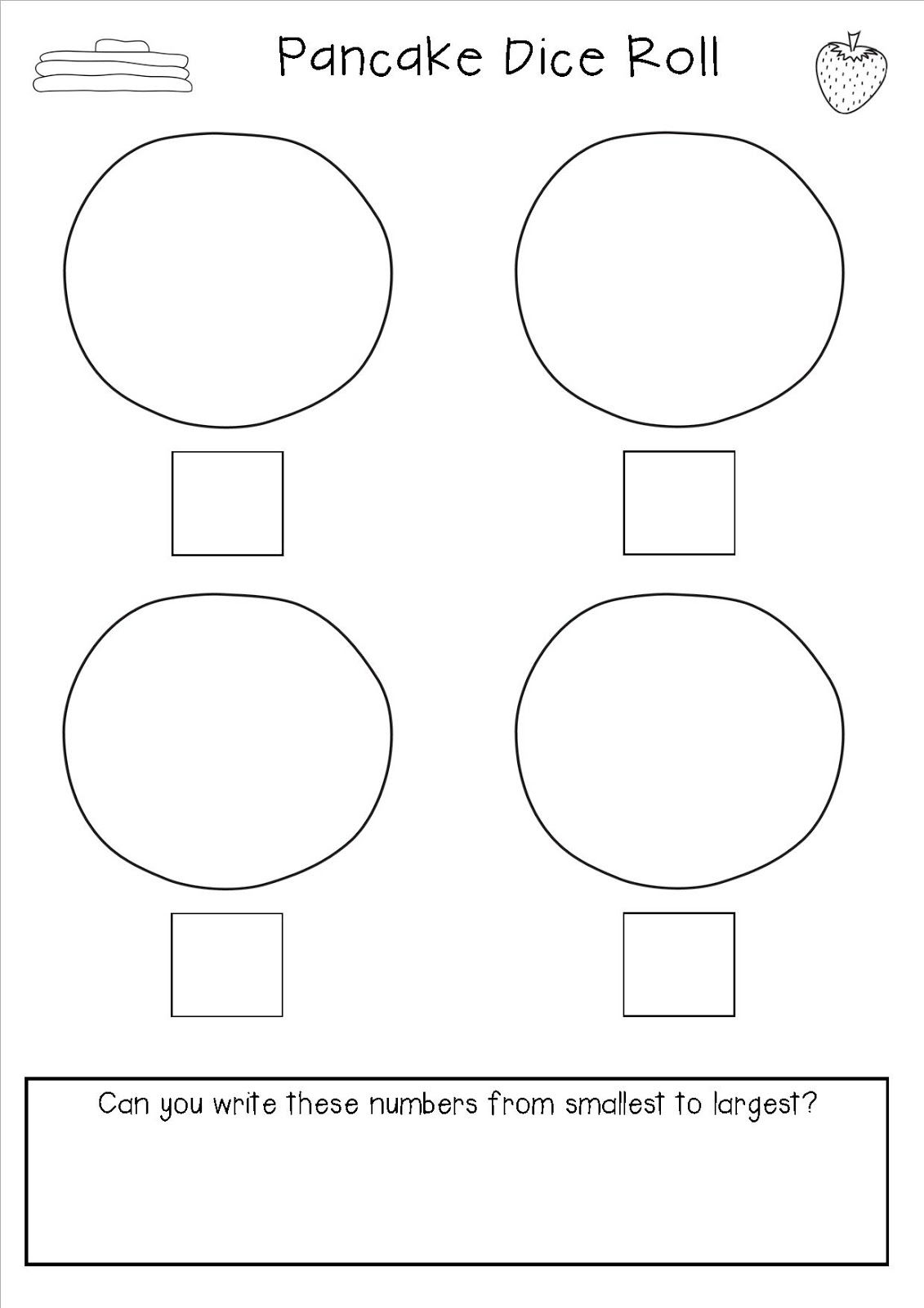 Pancake Day Math Activity Number Recognition And