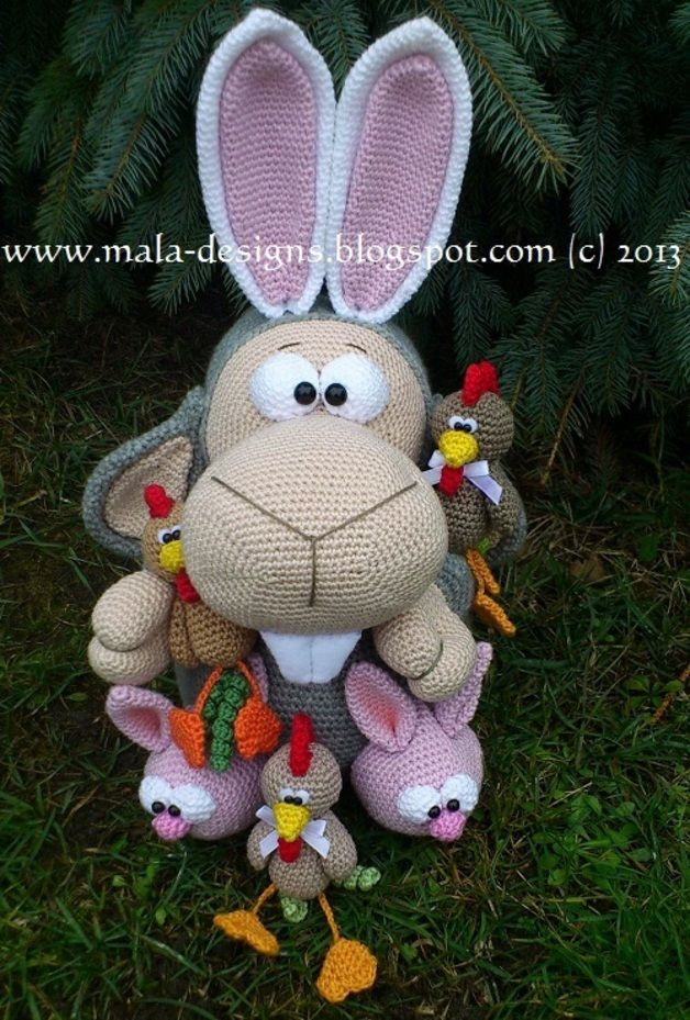 Amigurumi falscher Hase (Add-on), Häkelanleitung | Falscher hase ...