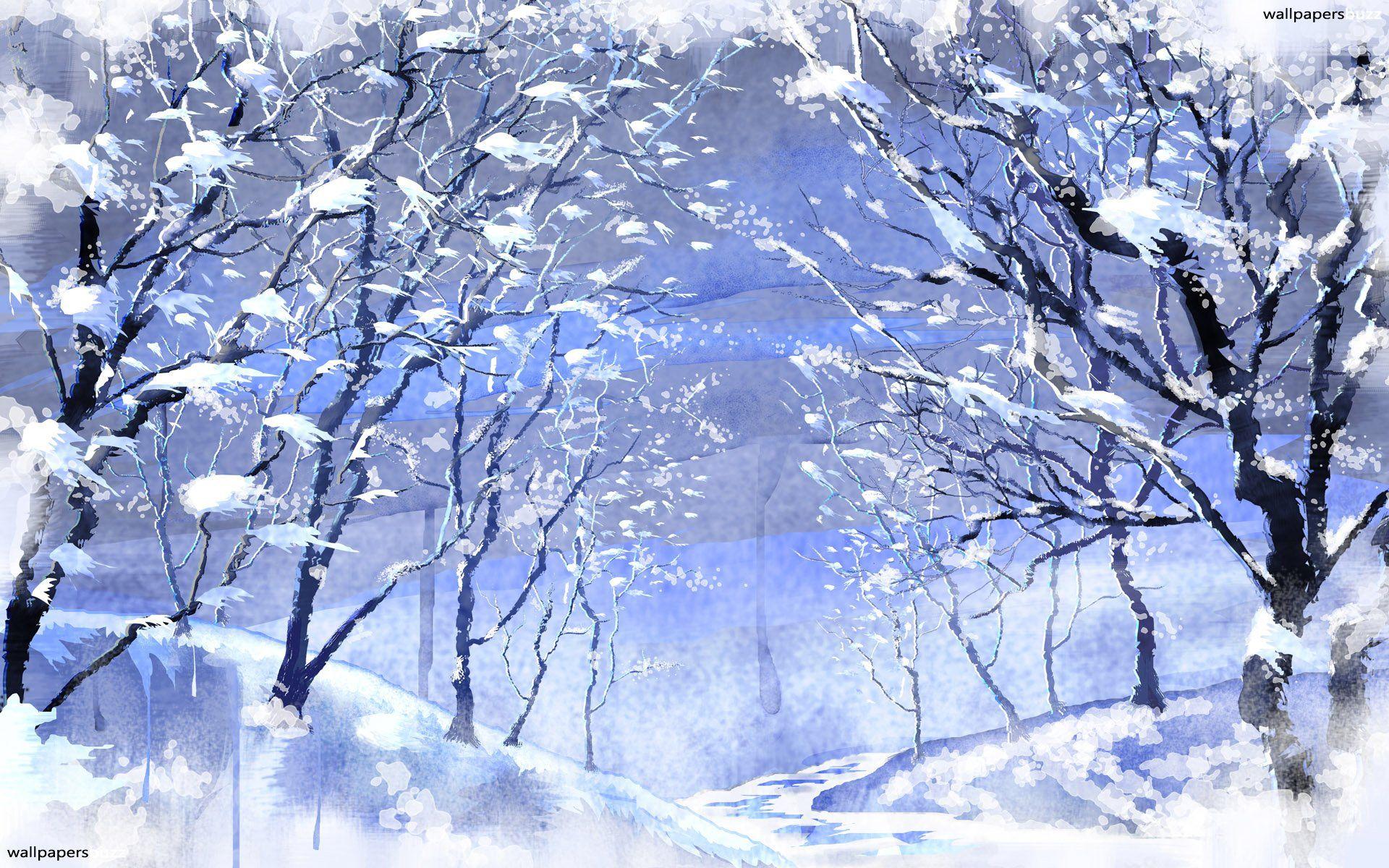 Winter Alley Winter Wallpaper Winter Snow Wallpaper Winter Scenery Freezing anime desktop wallpaper