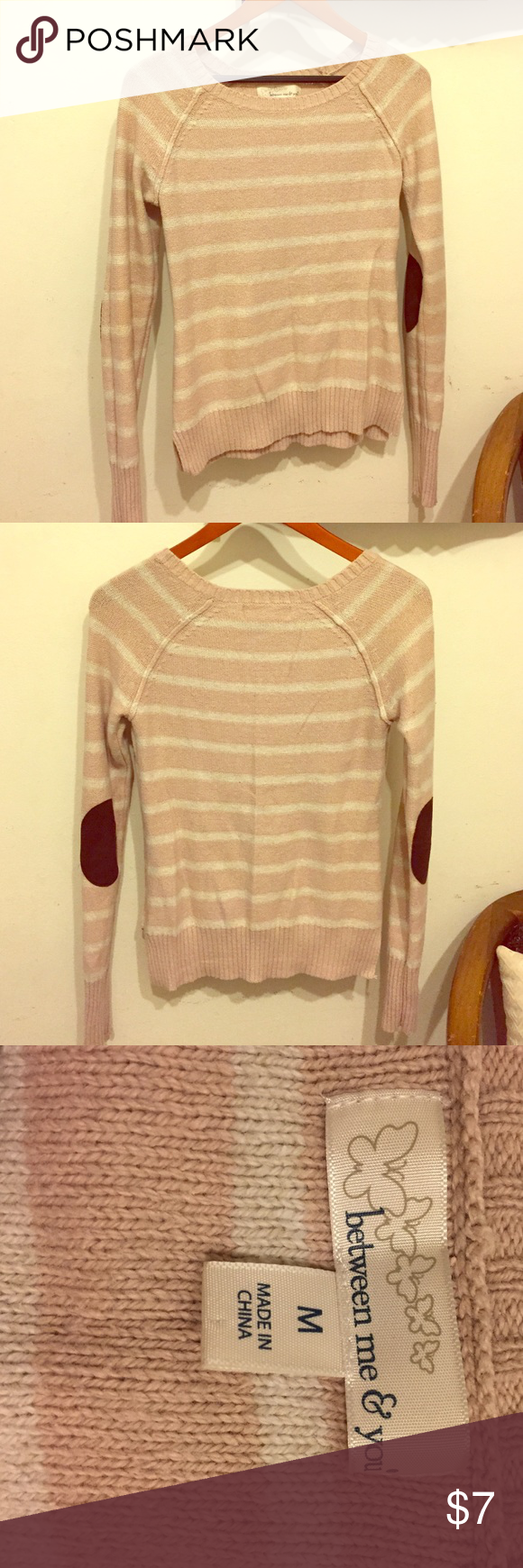 Pale pink and white striped sweater Comfy pink and white striped ...