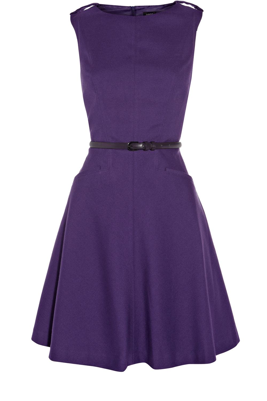 Purple Dress Dresses Fit And Flare Dress Western Wear Dresses