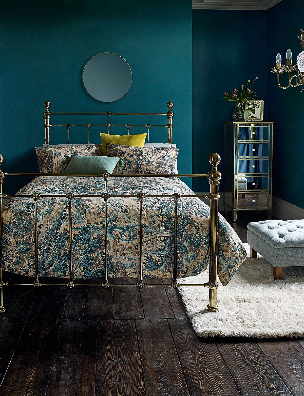 Letto A Castello Bluebell.Castello Brass Bedstead Bedroom Tapestry Bedding Bed Home Decor