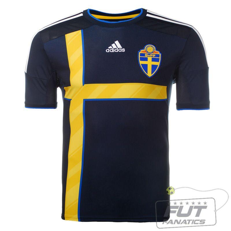 Camisa Adidas Suecia Away 2014 - Fut Fanatics - Compre Camisas de Futebol  Originais Dos Melhores Times do Brasil e Europa - Futfanatics ece3f19bab0