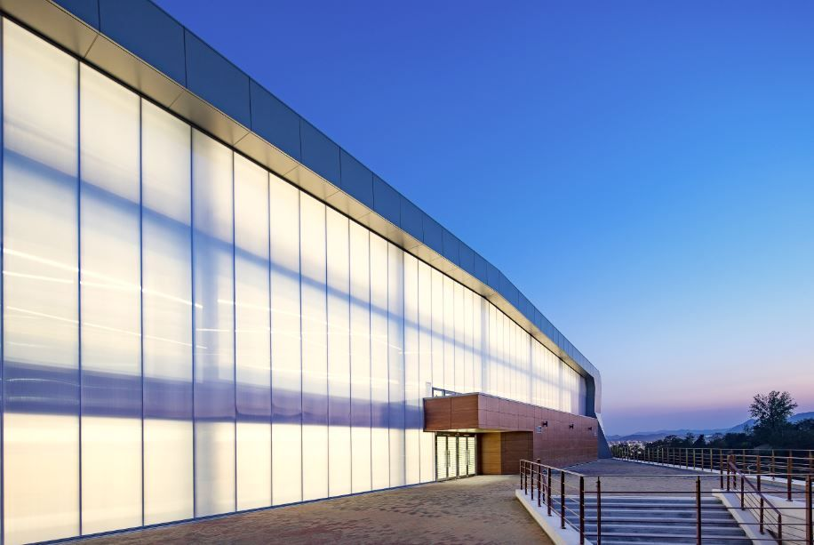 Gangwon State University Gym Exterior Lighting Design Facade