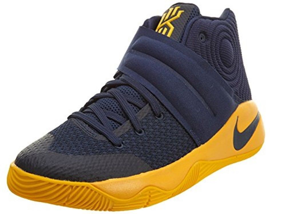 Nike Men's Kyrie 2 Basketball Shoes 819583 447 Midnight Navy/Gold Size 17 # Nike