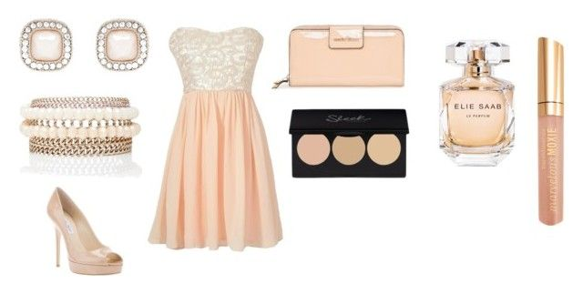 """""""CLASSIC STYLE"""" by katrina-mali ❤ liked on Polyvore featuring Elie Saab, Bare Escentuals, Jimmy Choo, MANGO and Forever New"""