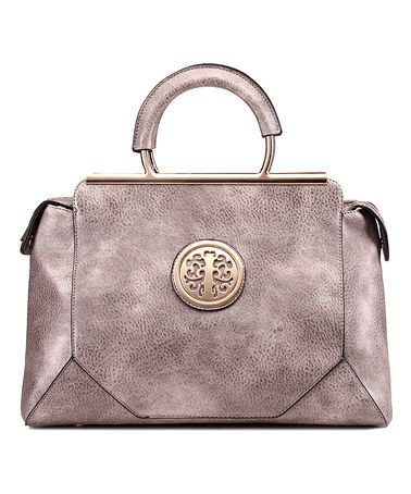 Another great find on #zulily! Pewter Roma Satchel by MKF Collection #zulilyfinds
