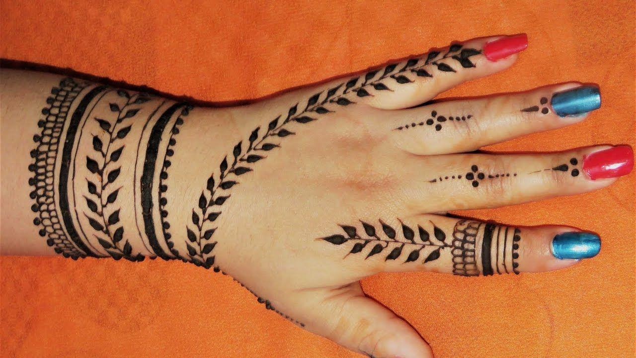 Easy Arabic Back Hand Henna Mehndi Designs By Jyoti Sachdeva