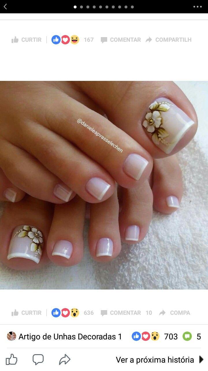 Pin de ixel rojas en nails en 2018 pinterest u as pies - Unas de pies decoradas ...