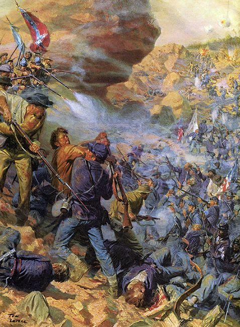 Battle of the Crater - by the great Tom Lovell for Time/Life