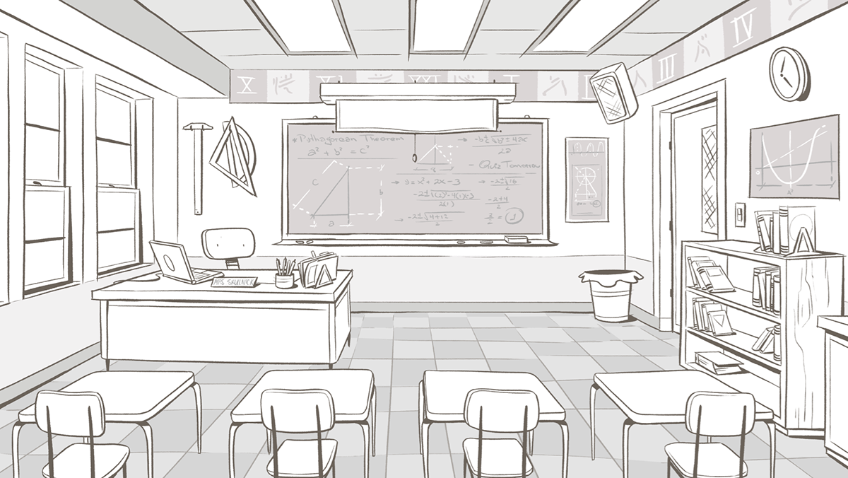 Classroom Disney On Behance Character Design References Https Www Facebook Com Cha Perspective Drawing Architecture Perspective Sketch Perspective Art
