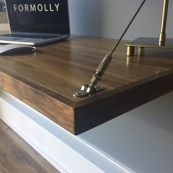 This Item Is Unavailable Floating Desk Wall Mounted Desk Walnut Desks