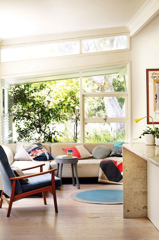 Etc Inspiration Blog Bright Mid Century Modern Sydney Australia Home Via Life Living Room Sectional Sofa A Frame Roof 4 Photo Inspi