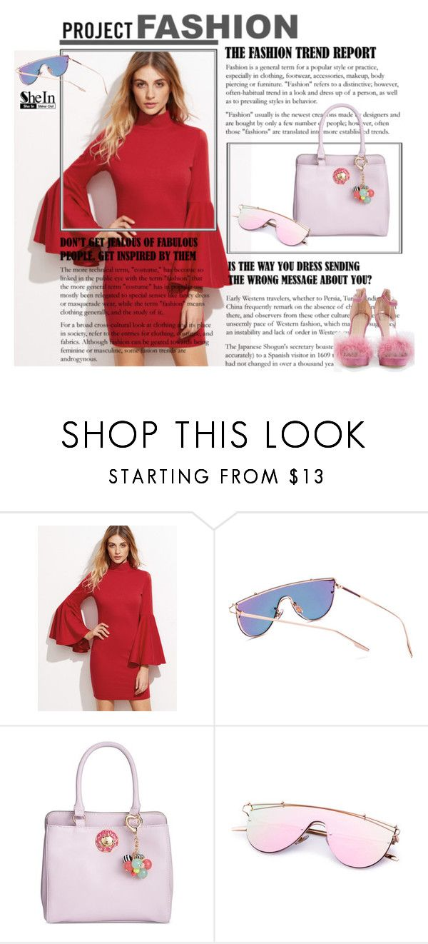"""Pink Sunglasses"" by lence-59 ❤ liked on Polyvore featuring Betsey Johnson"