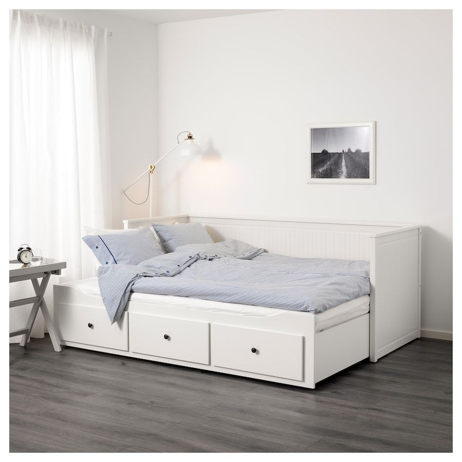 - HEMNES Daybed Frame With 3 Drawers - White Twin Hemnes Day Bed