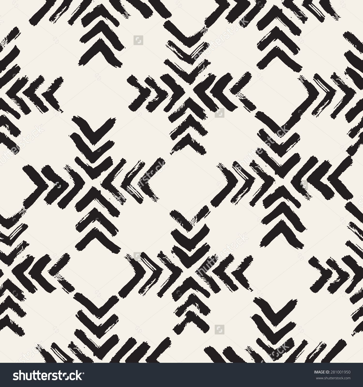 Vector seamless pattern abstract background with brush strokes