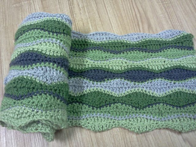 Ravelry: Gentle Waves Afghan pattern by Lion Brand Yarn. Love the ...