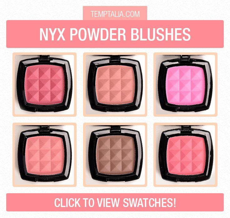 Nyx Powder Blush Swatches Part 2 M A K E U P S W A T C H E S