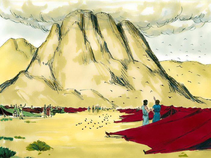 Free Bible illustrations at Free Bible images of the Israelites' struggle against the Amalekites as Moses prays. (Exodus 17:18-16): Slide 14