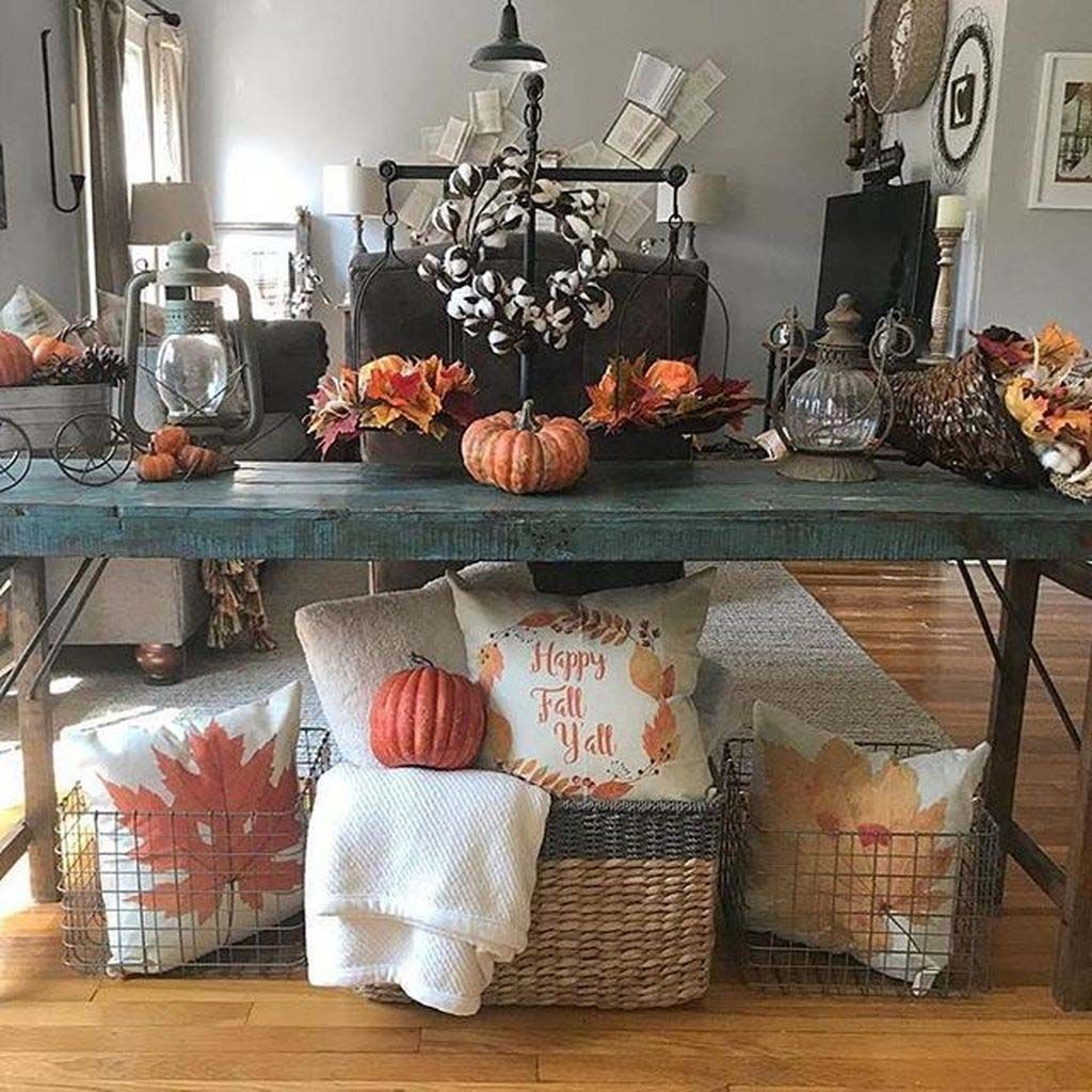 23 Amazing Ways To Style Your Console Table With Fall