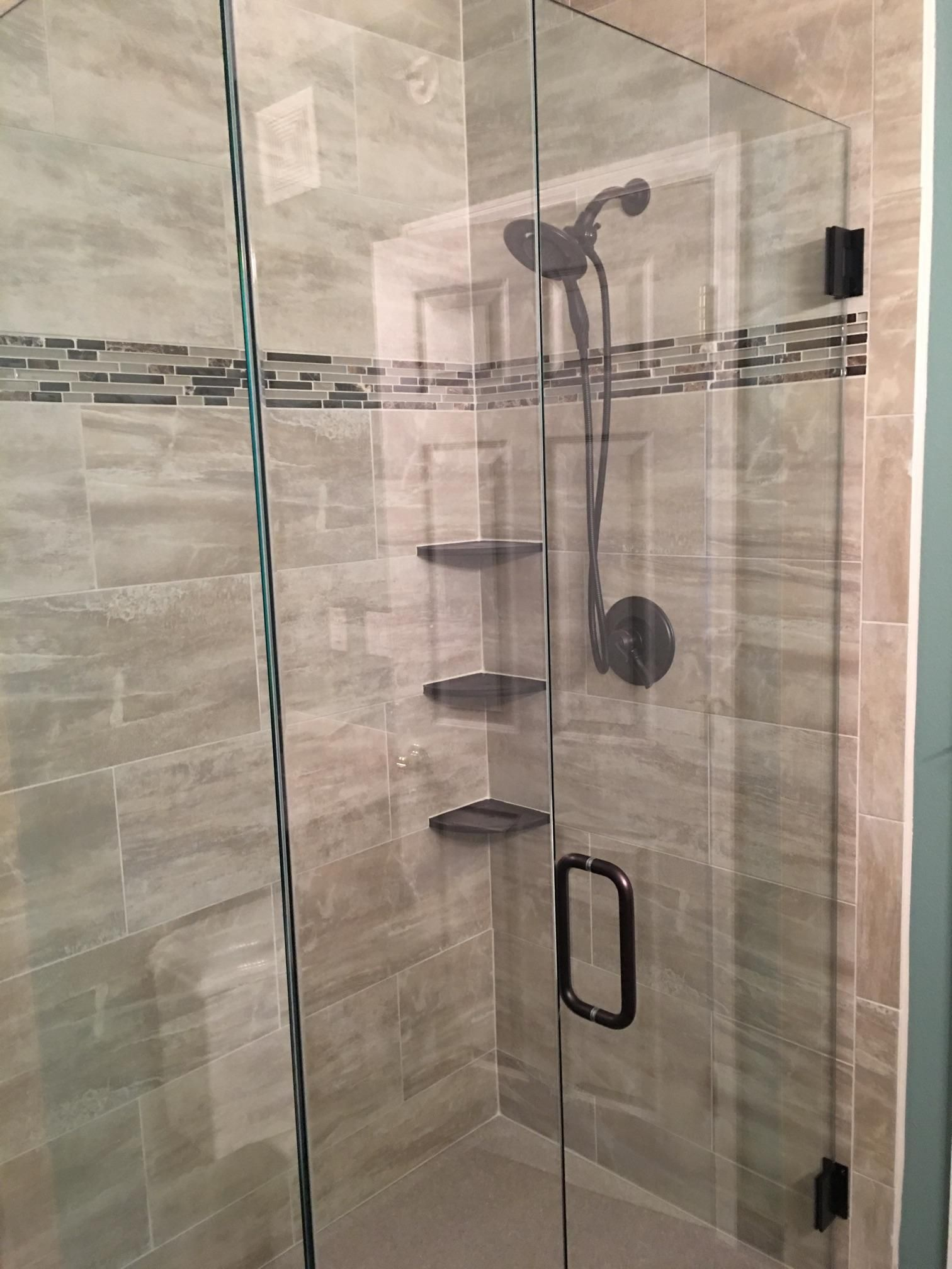 Bathroom Remodel Wet Area Gorgeous Glass Enclosure And Removable Shower Head Bathroom Shower Design Bathroom Design Shower Heads
