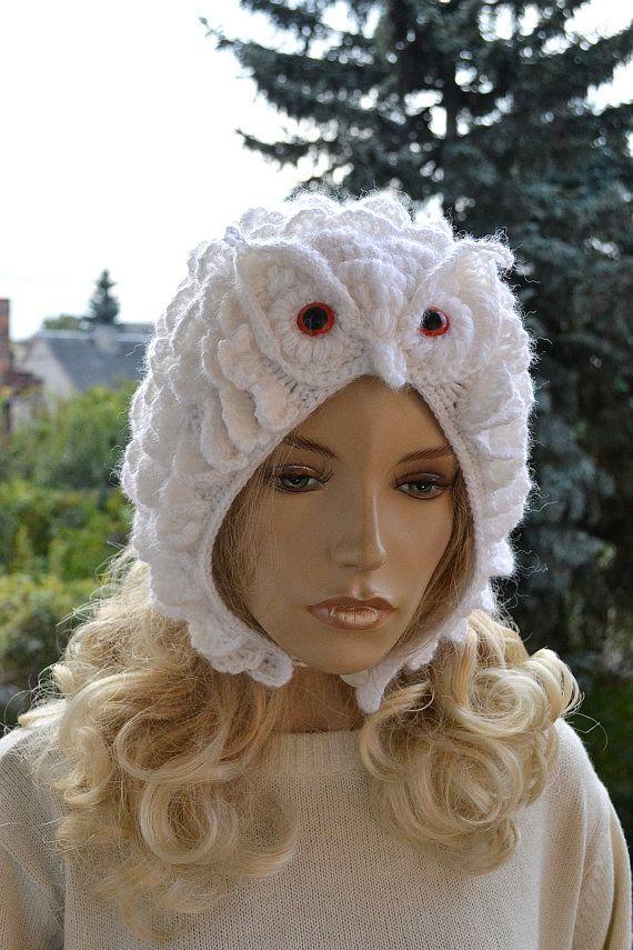 Crocheted white cap Snowy Owl ;o) | Patrón Libre | Pinterest ...