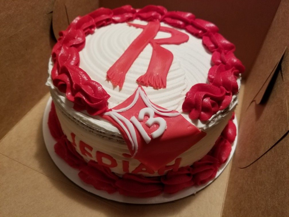 Houston Rockets Birthday Cakevanilla Cake With Buttercream