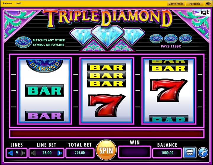 Jugar A La Tragamonedas Triple Diamonds Gratis Online Sin Necesidad